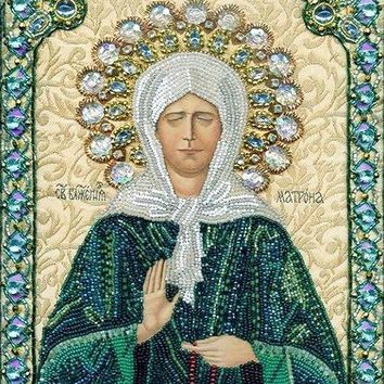 Diamond Embroidery Icons Religious Green Lady DIY 5d The Diamod Mosaica Set For Embroidery Stitch Pictures Of Beads Needlework