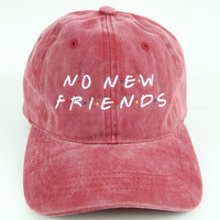 The Friends Dad Hat in Maroon Mineral
