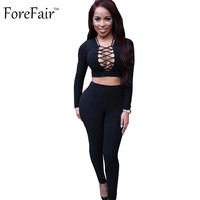 Black Red Long Sleeve Cotton Rompers Womens Jumpsuit 2016 Sexy Overalls For Women Elegant Bodycon Playsuits And Jumpsuits