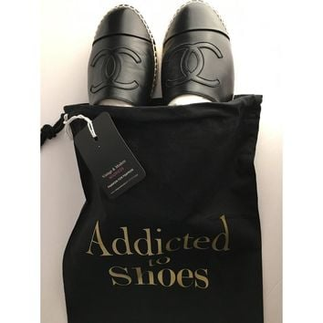 Addicted To Shoes String Dust Bag Travel Bag GOLD