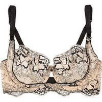 Elle Macpherson Intimates Obsidian Honora floral-lace underwired bra – 50% at THE OUTNET.COM