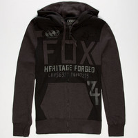 Fox Blockade Mens Hoodie Black  In Sizes