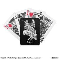 Black & White Knight Custom Playing Cards from Zazzle.com
