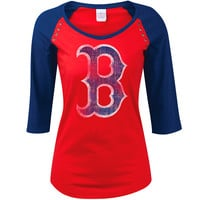 Boston Red Sox Women's 3/4 Sleeve Jersey Raglan by 5th & Ocean - MLB.com Shop