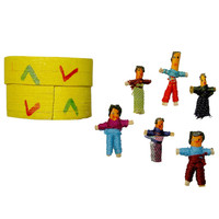 Wooden Box of Worry Dolls