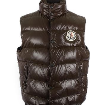 Moncler Brown Nylon Puffer Vest