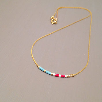 simple gold necklace dainty necklace gold bar necklace tiny gold necklace