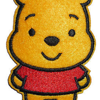 Kids Disney Winnie The Pooh Motif Embroidered Iron On / Sew On Patch Badge WTP#3