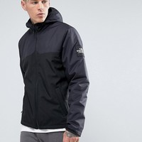 The North Face Westpeak Softshell Jacket Hooded 2 Tone in Black at asos.com