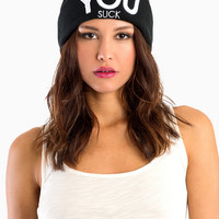 Civil Clothing You Suck Beanie $28