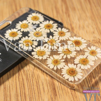 Pressed Flower case, Daisy sunflower, iPhone 5 case, iPhone 4 case, iPhone 4s case, iPhone 5s case iPhone 5c case Galaxy S4 S5 Note 3, 056