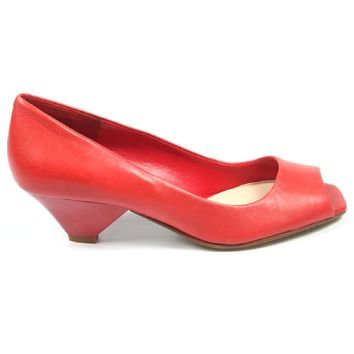 Nine West Womens Pump Open Toe Nwzephyr Red