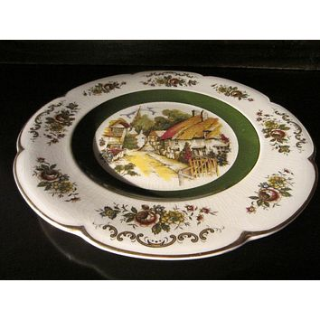 Ironstone Charger Alpine Service Plate by Wood And Sons England