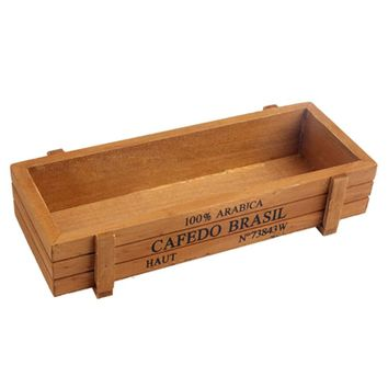 2017 1Pcs Vintage Wood Crate with Rectangle Shape used for Planting Garden Flower Succulent on the Desktop