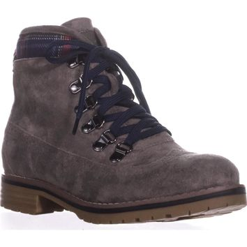 Tommy Hilfiger Ollia3 Lace-Up Booties, Grey Multi, 7 US
