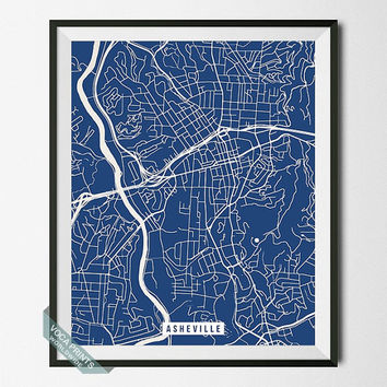 Ashville Print, North Carolina Map Poster, Ashville Street Map, North Carolina Print, Room Decor, Modern Print, Wall Art, Back To School