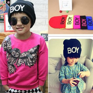 Toddler Baby Girl Boy Winter BOY Skull Hat Warm Beanie Caps Woolen Hats