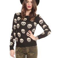Skull Knit - Tops - Clothes | GYPSY WARRIOR