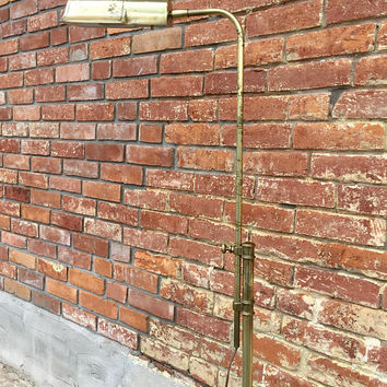 Stiffel Brass Floor Lamp, Vintage Pharmacy Lamp, Stiffel Floor Lamp, Brass Pharmacy Floor Lamp, Mid Century Lighting, Brass Floor Lamp