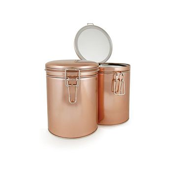 Latched Copper Tea Storage Tin
