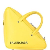 Balenciaga Women's 476975C8K027150 Yellow Leather Handbag