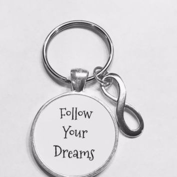 Infinity Follow Your Dreams Best Friend Sister Graduation Gift Keychain