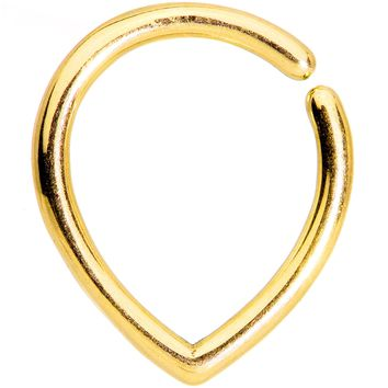 16 Gauge Gold Tone Teardrop Closure Ring