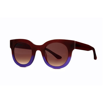 Celebrity Two-Tone Sunglasses, Burgundy/Blue - Thierry Lasry - Burgundy/Blue