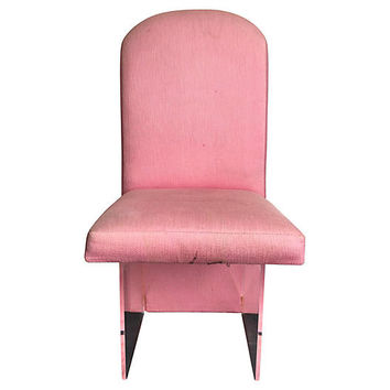 Pink & Lucite Dining Chairs, S/6 | One Kings Lane
