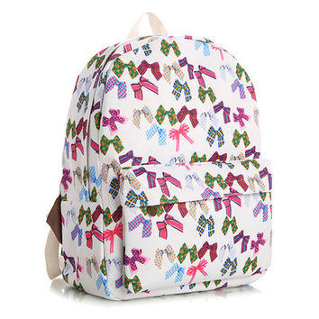 Lovely Cute Korean Canvas Backpack = 4888030148