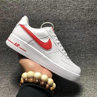 DCCK  NIKE AIR FORCE 1 &x27; Nike air force one white and red men's and women's leisure