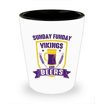 Minnesota Beers and Football Drinking Shot Glass