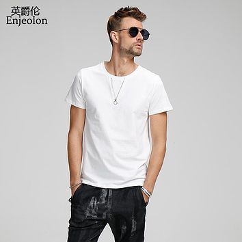cotton t shirt men 2 color solid clothing t shirts male o neck short sleeve clothes casual clothing