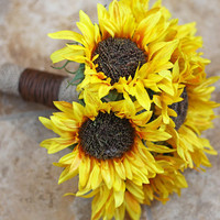 Sunflower Wedding Bouquet  Rustic Country by SouthernGirlWeddings