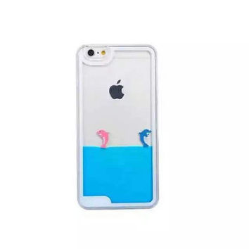 CLEARANCE! Dolphins in water Aqua Swimming Dolphins Hard Phone Case for iPhone