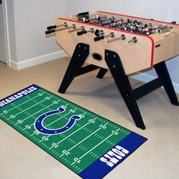FANMATS Indianapolis Colts Field Runner Mat Area Rug, Man Cave, Bar, Game Room