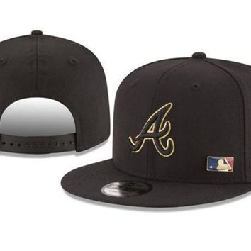 New Arrival New Era Black Cap MLB Baseball Fitted Hat-5