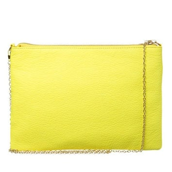 Large Neon Yellow Clutch