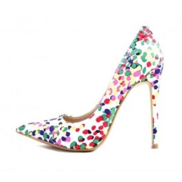 Shoe Republic Brenda Multi color Pointy Toe Pumps wowtrendz