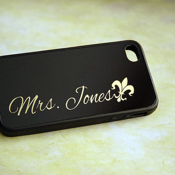 Fleur De Lis New Orleans Saints Fan Team Spirit Monogram iPhone Case