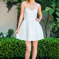Belle Seafoam Fit and Flare Lace Dress