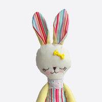 Stuffed bunny colorful striped Sunny bunny rabbit plush rabbit bunny doll stuffed toy holiday gift for children