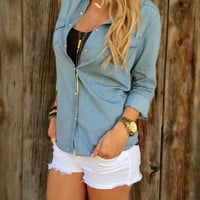 Vintage Chambray Shirt - FINAL SALE