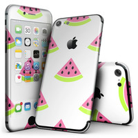 Cartoon Watermelon Pattern - 4-Piece Skin Kit for the iPhone 7 or 7 Plus