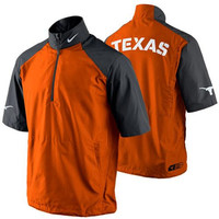 Nike Texas Longhorns Hot Short Sleeve Jacket - Burnt Orange