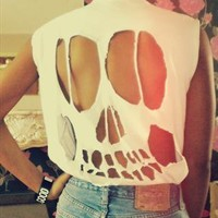Skull Cut Out Tops from CUTITOUTclothing