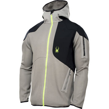 Spyder Stated Hybrid Softshell Jacket - Men's Graystone/Mantis Green,