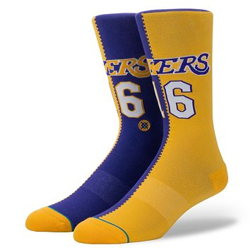 STANCE LAKERS SPLIT JERSEY SOCKS