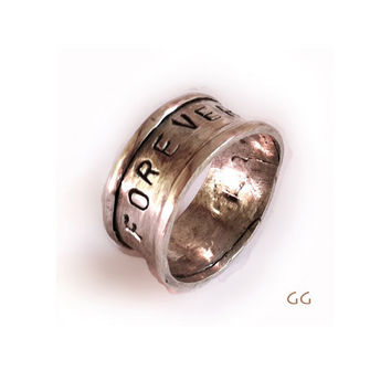 RING Forever Yours in Sterling Silver Minimalistic by GGoriginal