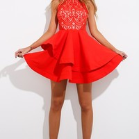 Affair Of The Heart Dress Red